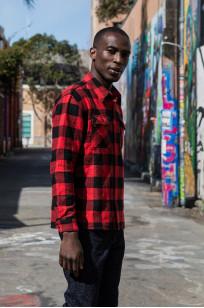 "Flat Head ""Trotwood"" Heavy Winter Flannel Workshirt - Red/Black - Image 1"