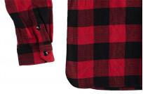 "Flat Head ""Trotwood"" Heavy Winter Flannel Workshirt - Red/Black - Image 13"