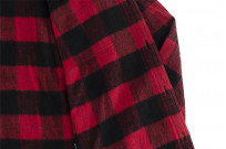 "Flat Head ""Trotwood"" Heavy Winter Flannel Workshirt - Red/Black - Image 16"