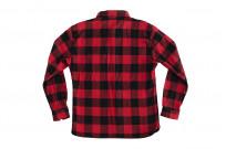 "Flat Head ""Trotwood"" Heavy Winter Flannel Workshirt - Red/Black - Image 17"