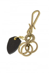 Iron Heart Brass Triple-Ring - S-Hook Keyhook - Image 4