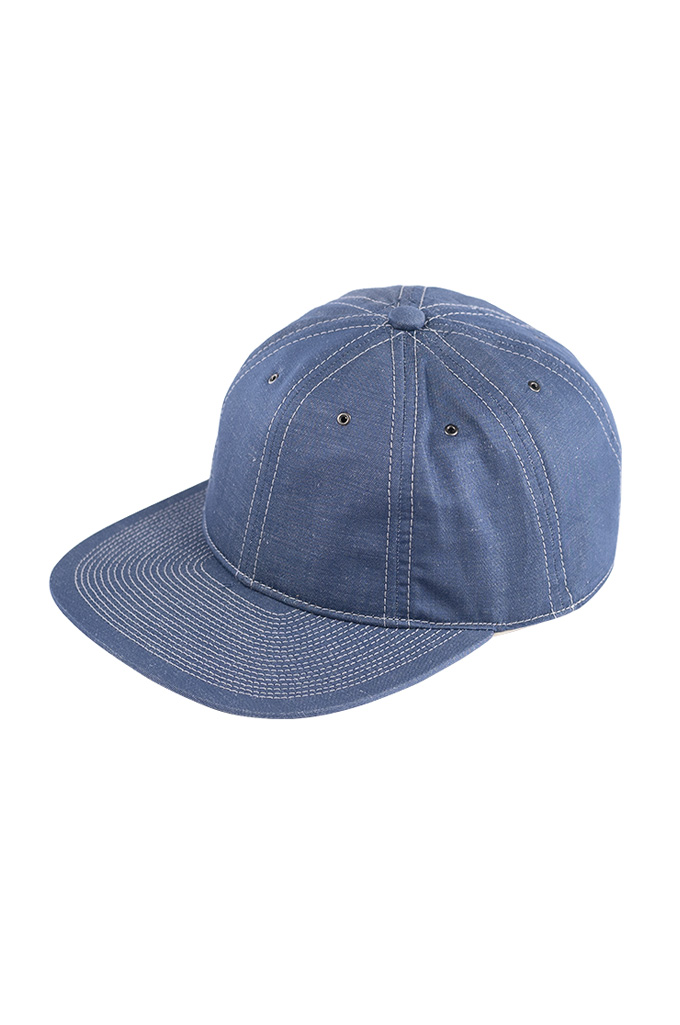Poten Japanese Made Cap - Blue Cotton/Linen - Image 0