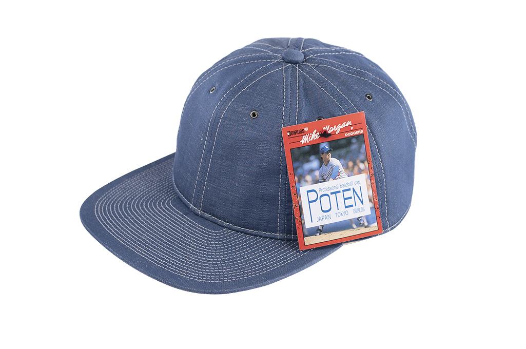Poten_Japanese_Made_Cap_Blue_Cotton_Line