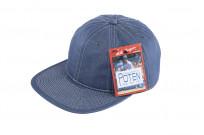 Poten Japanese Made Cap - Blue Cotton/Linen - Image 1