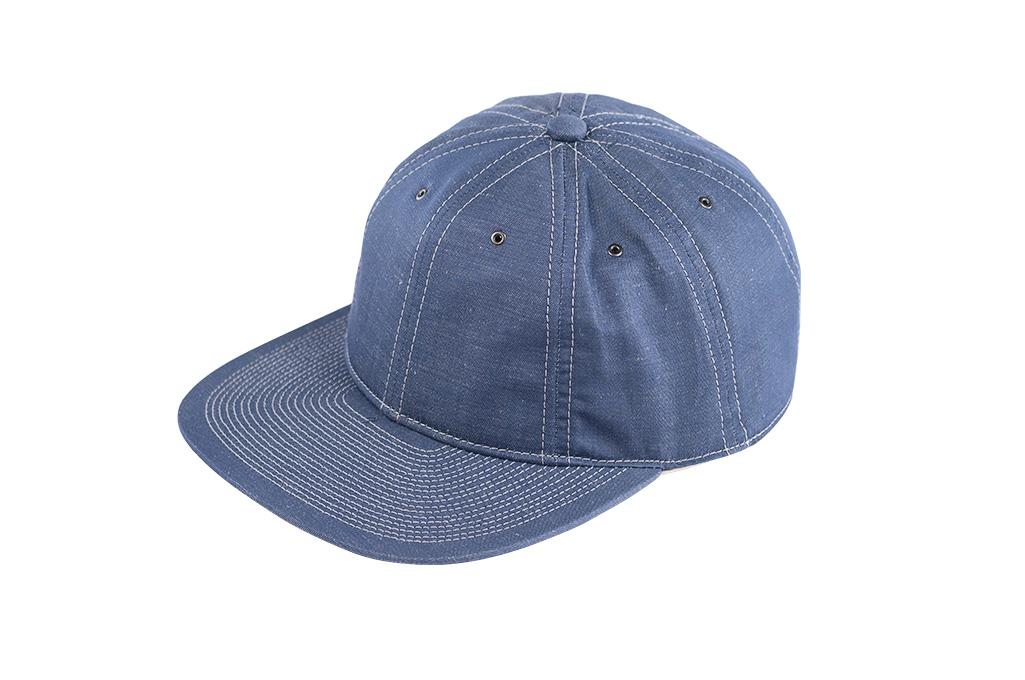 Poten Japanese Made Cap - Blue Cotton/Linen - Image 2