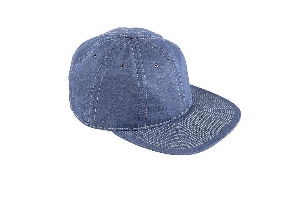 Poten Japanese Made Cap - Blue Cotton/Linen - Image 4