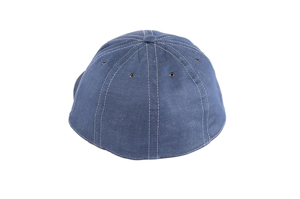 Poten Japanese Made Cap - Blue Cotton/Linen - Image 5