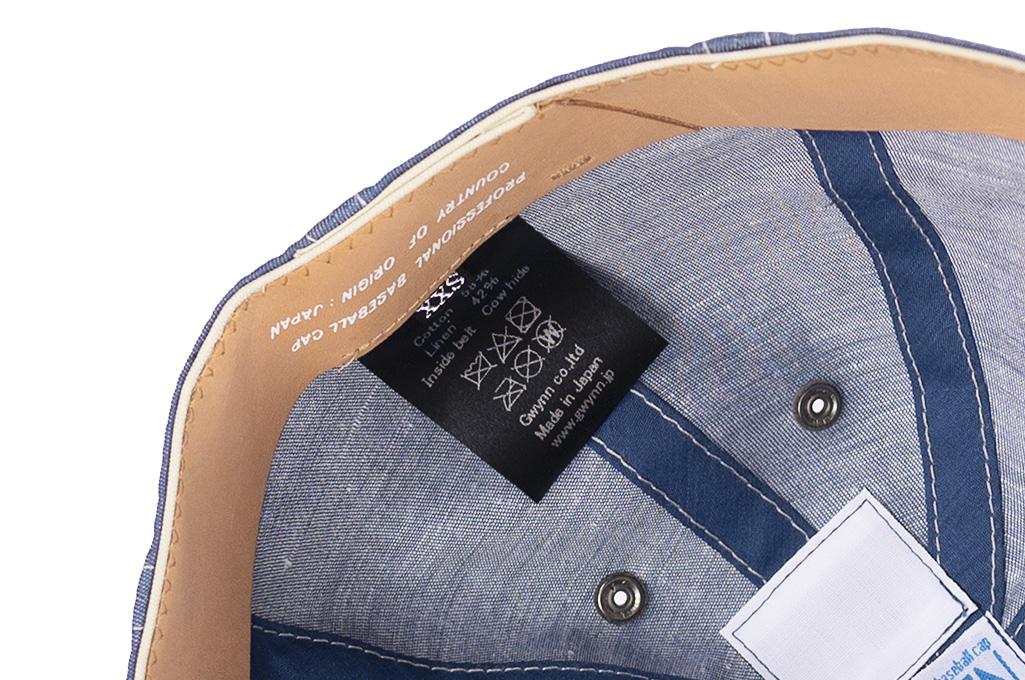 Poten Japanese Made Cap - Blue Cotton/Linen - Image 9