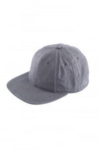 Poten Japanese Made Cap - Washed Out Black Linen - Image 0