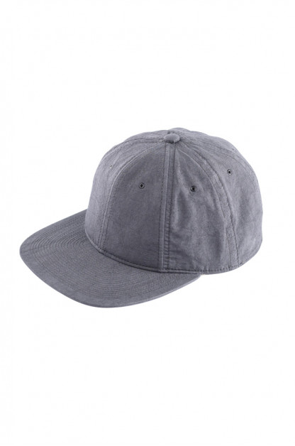 Poten Japanese Made Cap - Washed Out Black Linen