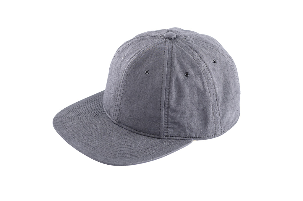 Poten Japanese Made Cap - Washed Out Black Linen - Image 1