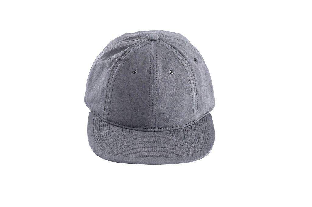 Poten Japanese Made Cap - Washed Out Black Linen - Image 3