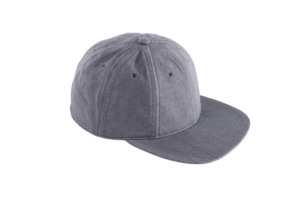 Poten Japanese Made Cap - Washed Out Black Linen - Image 4