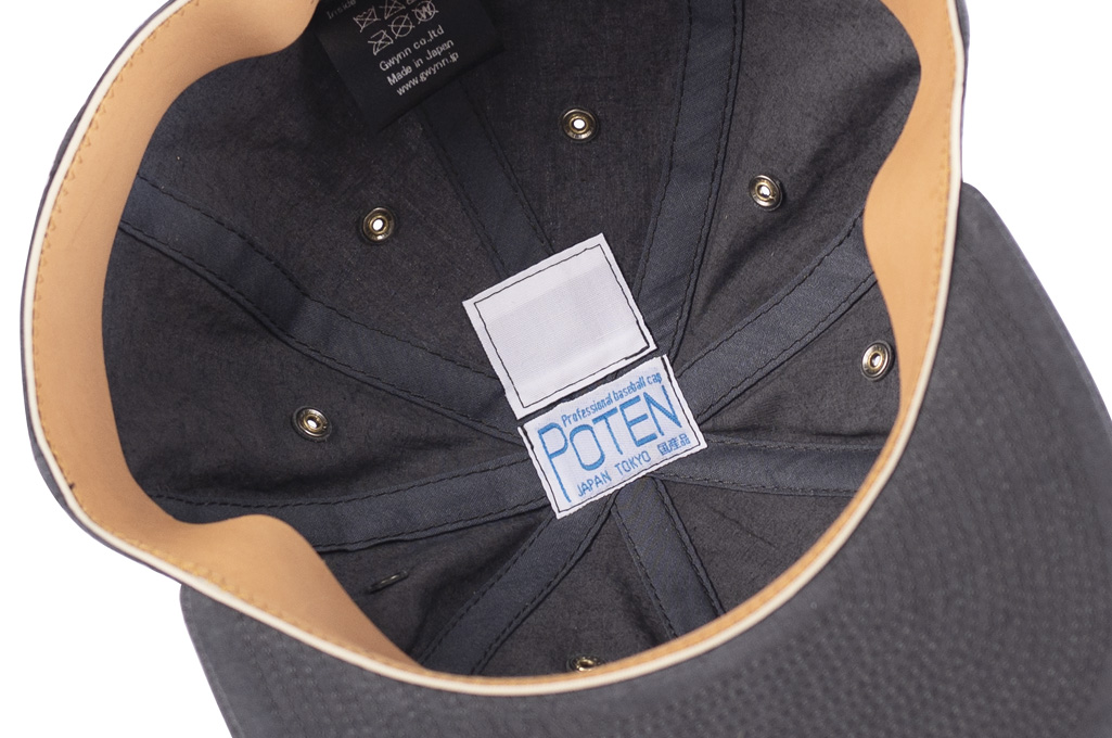 Poten Japanese Made Cap - Washed Out Black Linen - Image 8