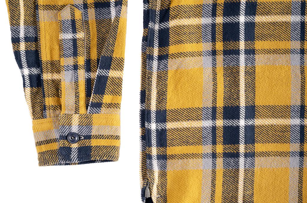 Seuvas Heavy Winter Flannel Shirt - Lemon Haze - Image 4