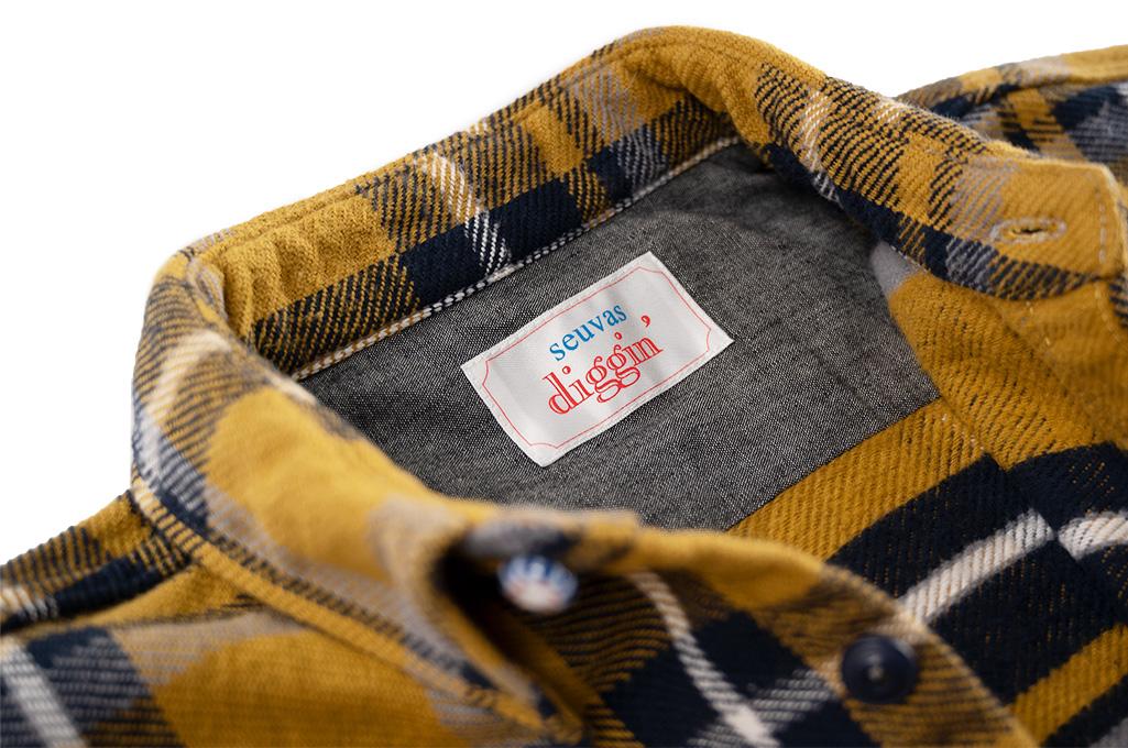 Seuvas Heavy Winter Flannel Shirt - Lemon Haze - Image 8