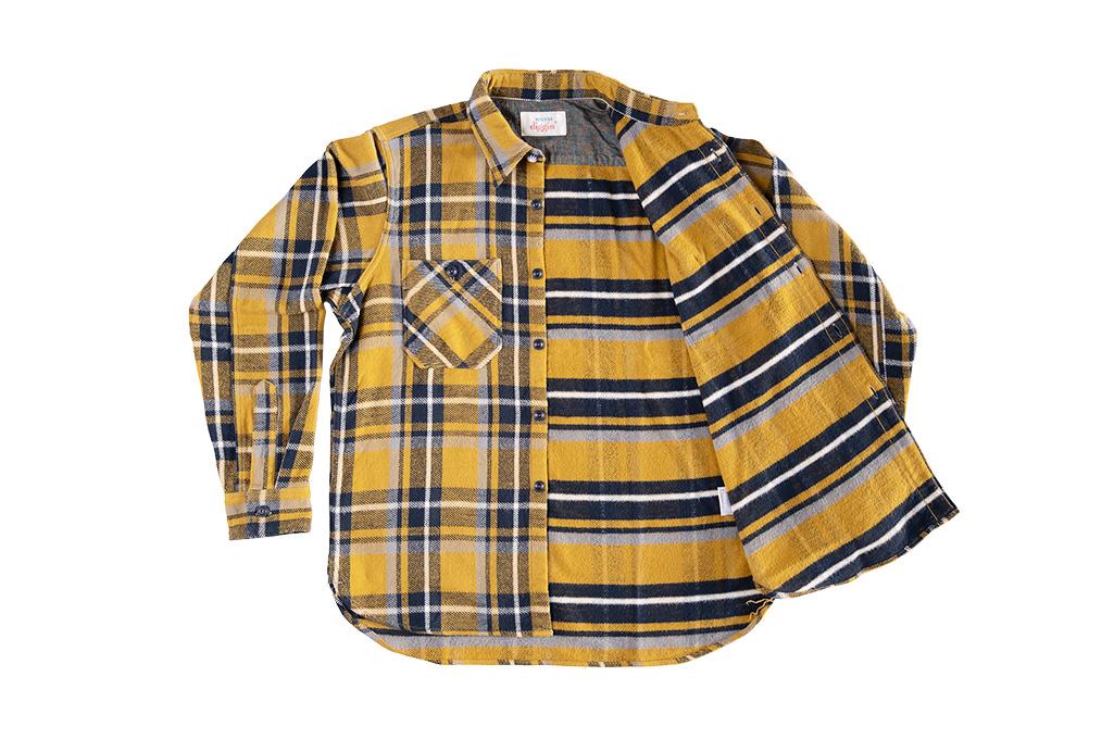 Seuvas Heavy Winter Flannel Shirt - Lemon Haze - Image 10