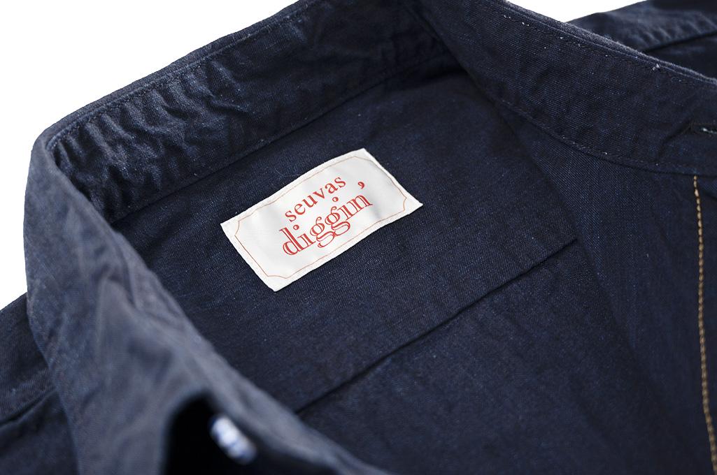 Seuvas Workshirt - Double Indigo Chambray - Image 8