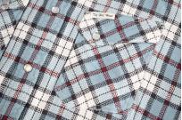 "Flat Head ""Copperfield"" Heavy Winter Flannel Western - Blue (Self Edge Exclusive) - Image 6"