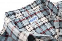 "Flat Head ""Copperfield"" Heavy Winter Flannel Western - Blue (Self Edge Exclusive) - Image 11"