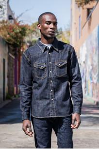 Flat Head NEXT Edition Western Shirt - 10oz Indigo Denim - Image 0