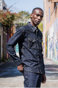 Flat Head NEXT Edition Western Shirt - 10oz Indigo Denim - Image 1