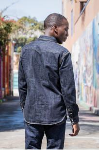 Flat Head NEXT Edition Western Shirt - 10oz Indigo Denim - Image 5