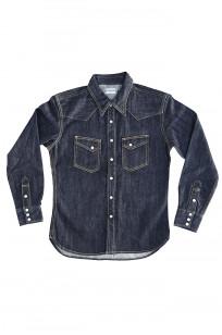 Flat Head NEXT Edition Western Shirt - 10oz Indigo Denim - Image 6