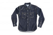 Flat Head NEXT Edition Western Shirt - 10oz Indigo Denim - Image 7