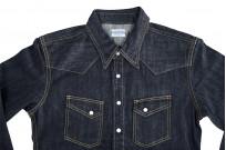 Flat Head NEXT Edition Western Shirt - 10oz Indigo Denim - Image 9