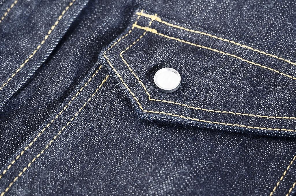 Flat Head NEXT Edition Western Shirt - 10oz Indigo Denim - Image 10