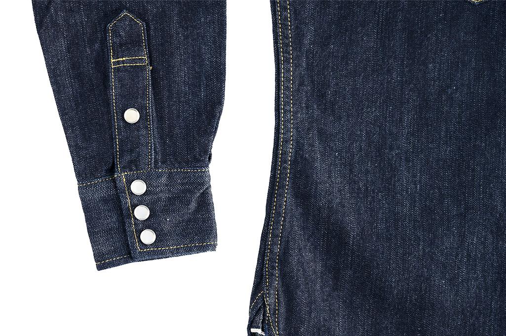 Flat Head NEXT Edition Western Shirt - 10oz Indigo Denim - Image 11