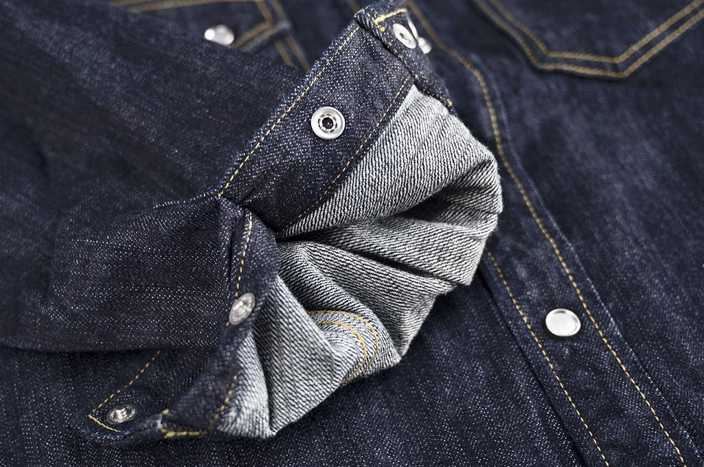 Flat Head NEXT Edition Western Shirt - 10oz Indigo Denim - Image 12