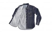 Flat Head NEXT Edition Western Shirt - 10oz Indigo Denim - Image 13