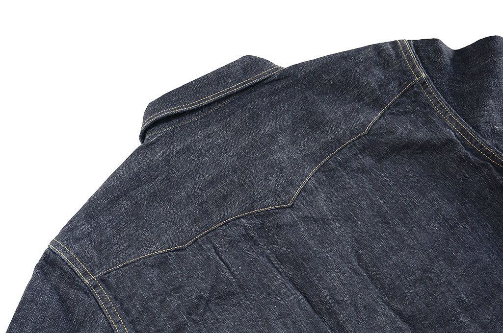 Flat Head NEXT Edition Western Shirt - 10oz Indigo Denim - Image 16
