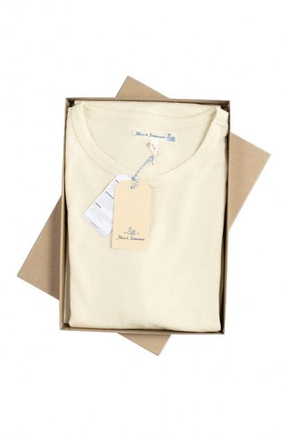 Merz b. Schwanen 2-Thread Heavyweight T-Shirt - Natural