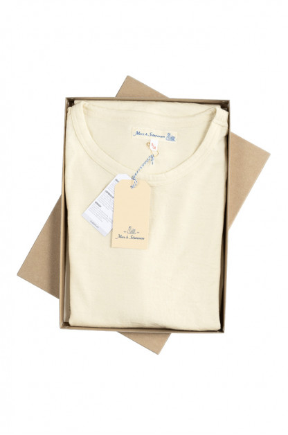 Merz b. Schwanen 2-Thread Heavyweight T-Shirt - Natural