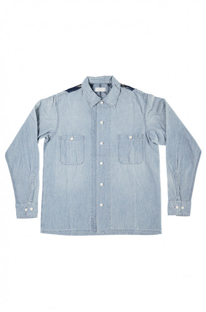 "Studio D'Artisan O△X ""Junk Wax Era"" Chambray Shirt"