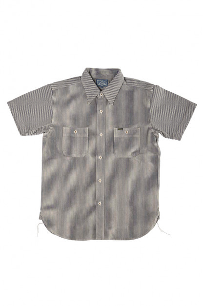 "Studio D'Artisan ""Sober Acid"" Hickory Stripe Shirt - Gray"