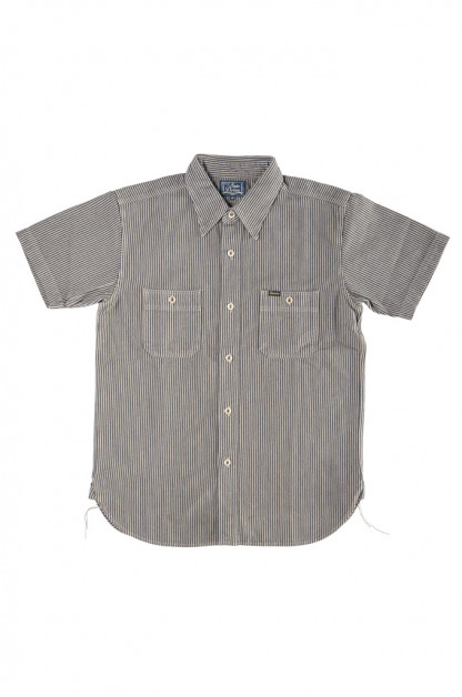 "Studio D'Artisan ""Sober Acid"" Hickory Stripe Shirt - Gray"