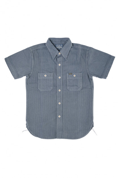 "Studio D'Artisan ""Sober Acid"" Hickory Stripe Shirt - Navy"
