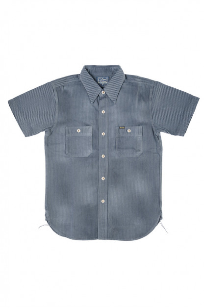 "Studio D'Artisan ""Sober Acid"" Hickory Stripe Shirt - Navy"