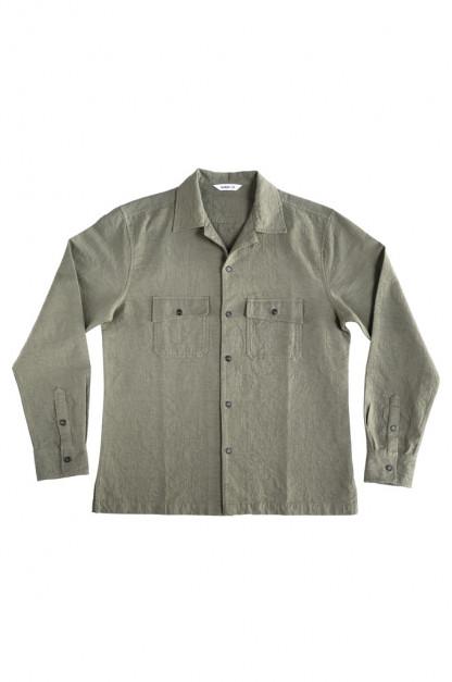 3sixteen Camp Shirt - Olive Jacquard
