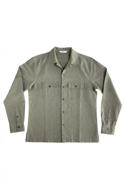 3sixteen Camp Shirt - Olive Jacquard