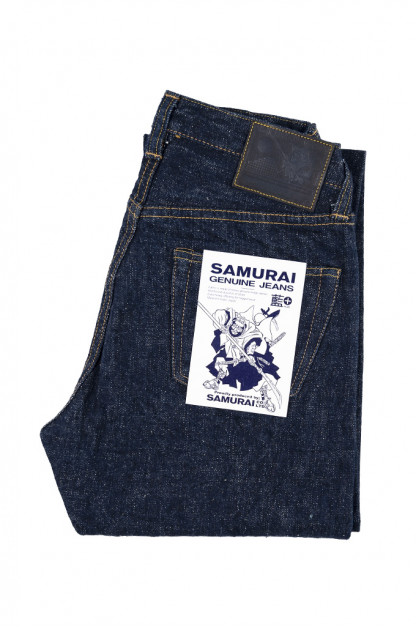 Samurai S211AX AI-BENKEI 18oz Natural Indigo Denim Jean - Straight Tapered