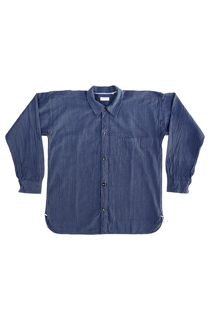 Sugar Cane AWA-AI Sugar Cane Fiber Blend Indigo Shirt - Navy - Image 7