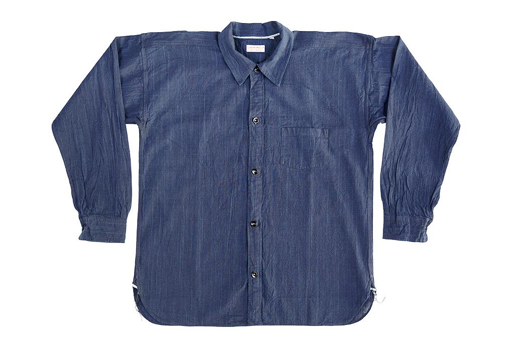 Sugar Cane AWA-AI Sugar Cane Fiber Blend Indigo Shirt - Navy - Image 8