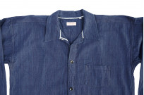 Sugar Cane AWA-AI Sugar Cane Fiber Blend Indigo Shirt - Navy - Image 9