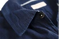 Sugar Cane AWA-AI Sugar Cane Fiber Blend Indigo Shirt - Navy - Image 10