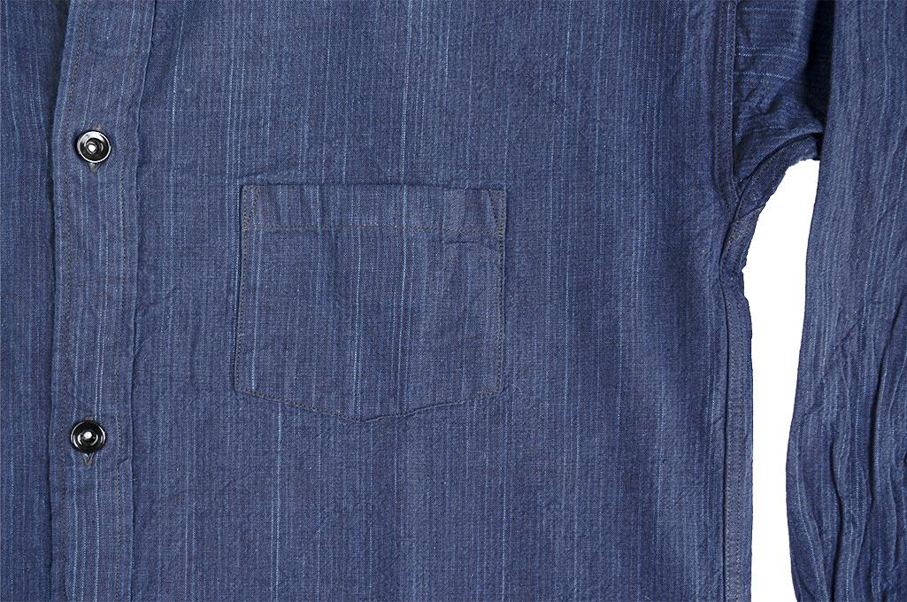Sugar Cane AWA-AI Sugar Cane Fiber Blend Indigo Shirt - Navy - Image 11